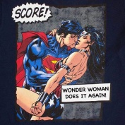 The answer to combatting sexism is not objectifying men and women at the same time! Wonder Woman is not super because of her epic Game, getting all the boys!