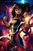 The first Muslim female comic book character to lead her own comic book and on the front cover, welcome Ms. Marvel