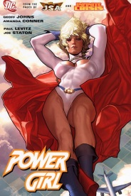 Check out the angle of this PowerGirl drawing, very sexual.