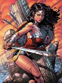 A more empowering depiction of Wonder Woman as an active warrior, engaged and central. Question is whether depictions of violence is helpful to combat sexism...